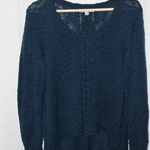 Turqoise V-Neck Sweater